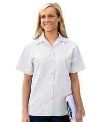 White Women's Uniform Shirts Shown in UniFirst Uniform Rental Service Catalog