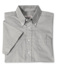 Grey Men's Pinpoint Dress Shirts Shown in UniFirst Uniform Rental Service Catalog