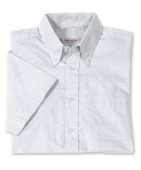 White Men's Pinpoint Dress Shirts Shown in UniFirst Uniform Rental Service Catalog