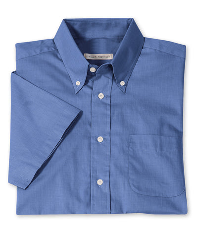 Men's Short Sleeve Pinpoint Dress Shirts