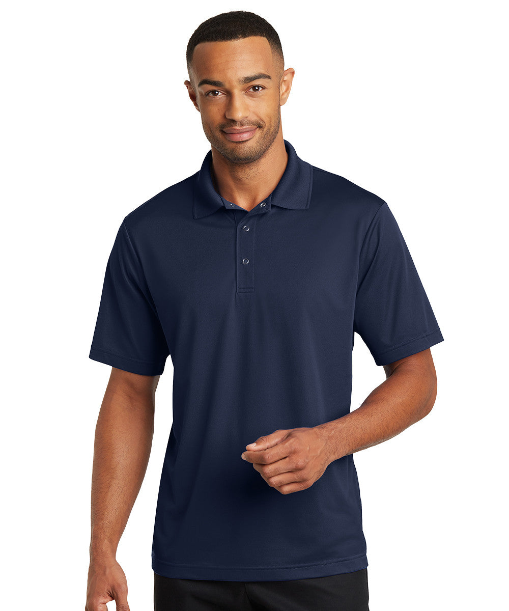 Navy Micro Piqué Gripper Polo Shirts Shown in UniFirst Uniform Rental Service Catalog