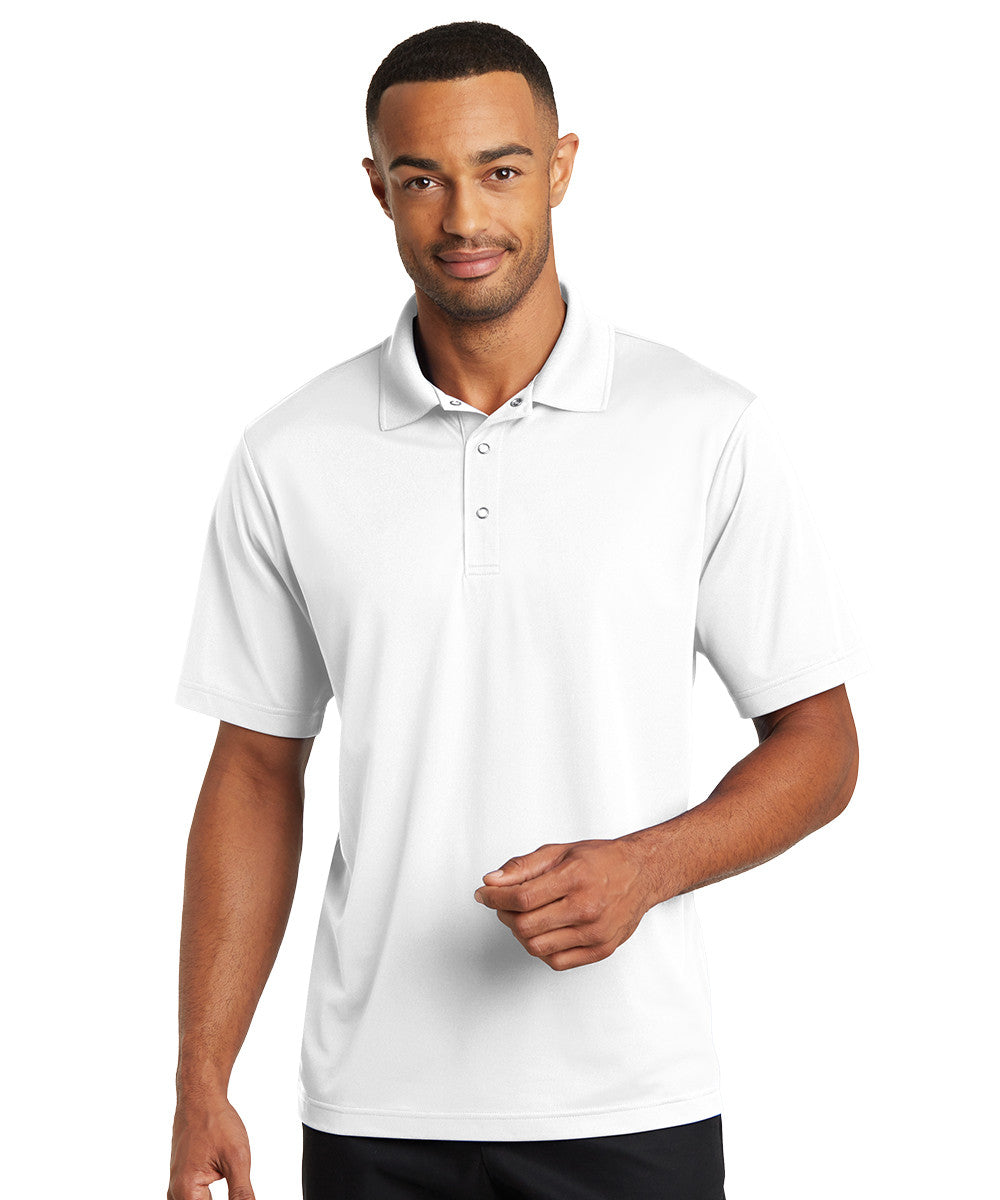 White Micro Piqué Gripper Polo Shirts Shown in UniFirst Uniform Rental Service Catalog