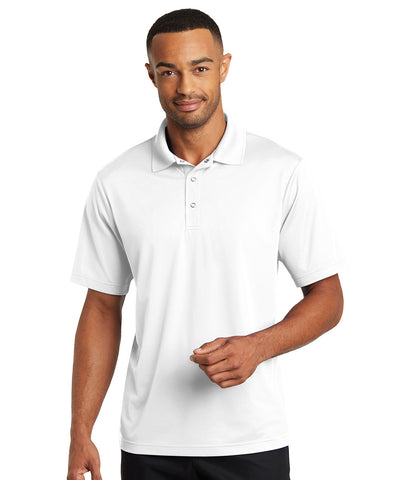 Micro Piqué Short Sleeve Gripper Front Polo Shirts