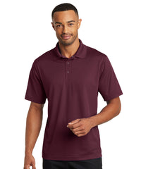Maroon Micro Piqué Gripper Polo Shirts Shown in UniFirst Uniform Rental Service Catalog