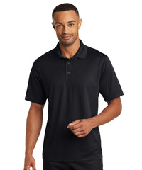 Black Micro Piqué Gripper Polo Shirts Shown in UniFirst Uniform Rental Service Catalog