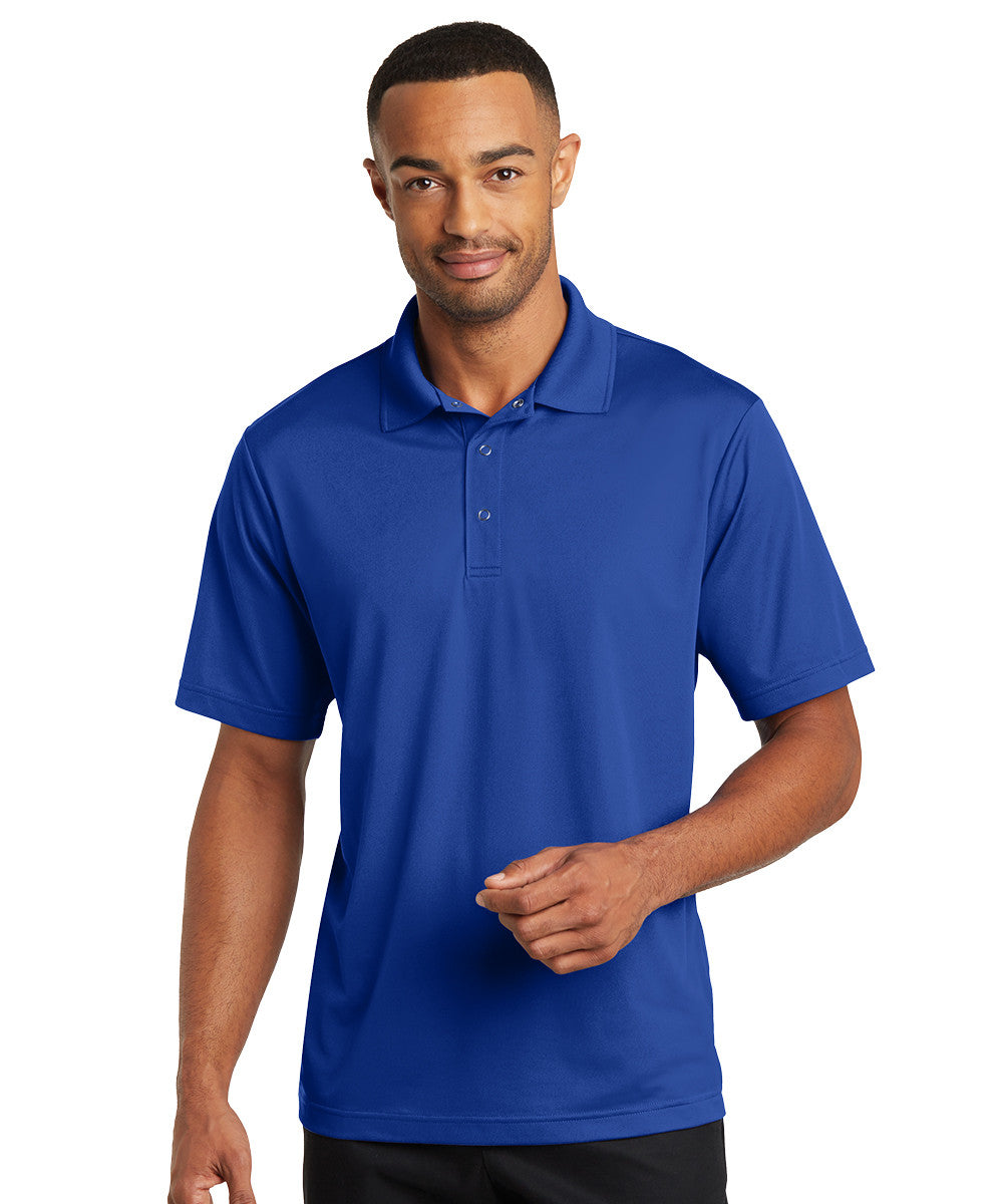 Royal Blue Micro Piqué Gripper Polo Shirts Shown in UniFirst Uniform Rental Service Catalog