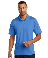 Lake Blue Micro Piqué Gripper Polo Shirts Shown in UniFirst Uniform Rental Service Catalog