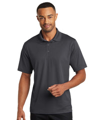 Steel Grey Micro Piqué Gripper Polo Shirts Shown in UniFirst Uniform Rental Service Catalog