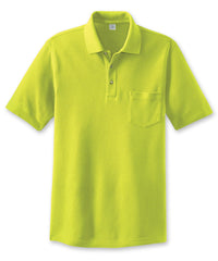Fluorescent Yellow Enhanced Visibility Polo Shirts Shown in UniFirst Uniform Rental Service Catalog