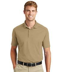 Men's Lightweight Short Sleeve Snag-Proof Polo Shirts (Tan) as shown in the UniFirst Rental Catalog