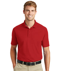 Men's Lightweight Short Sleeve Snag-Proof Polo Shirts (Red) as shown in the UniFirst Rental Catalog