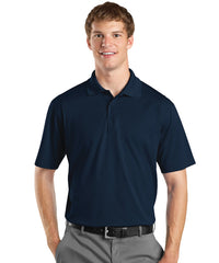 Navy Blue Men's UniSport™ Micropiqué Polos Shown in UniFirst Uniform Rental Service Catalog