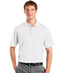 White Men's UniSport™ Micropiqué Polos Shown in UniFirst Uniform Rental Service Catalog