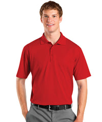 Red Men's UniSport™ Micropiqué Polos Shown in UniFirst Uniform Rental Service Catalog