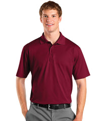 Maroon Men's UniSport™ Micropiqué Polos Shown in UniFirst Uniform Rental Service Catalog