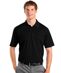 Black Men's UniSport™ Micropiqué Polos Shown in UniFirst Uniform Rental Service Catalog
