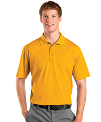 Gold Men's UniSport™ Micropiqué Polos Shown in UniFirst Uniform Rental Service Catalog