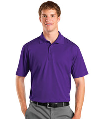 Purple Men's UniSport™ Micropiqué Polos Shown in UniFirst Uniform Rental Service Catalog