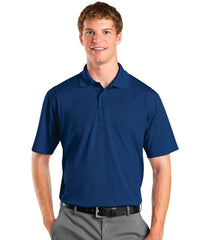 Royal Blue Men's UniSport™ Micropiqué Polos Shown in UniFirst Uniform Rental Service Catalog