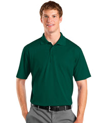 Hunter Green Men's UniSport™ Micropiqué Polos Shown in UniFirst Uniform Rental Service Catalog