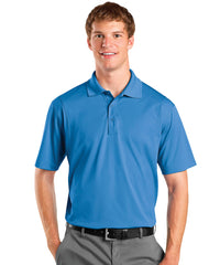 Lake Blue Men's UniSport™ Micropiqué Polos Shown in UniFirst Uniform Rental Service Catalog
