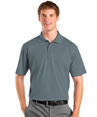 Steel Grey Men's UniSport™ Micropiqué Polos Shown in UniFirst Uniform Rental Service Catalog