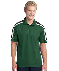 Forest/Black Mens Sport-Tek® Tricolor Micro Piqué Polos Shown in UniFirst Uniform Rental Service Catalog