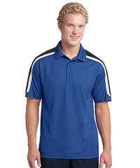 Royal/Black Mens Sport-Tek® Tricolor Micro Piqué Polos Shown in UniFirst Uniform Rental Service Catalog