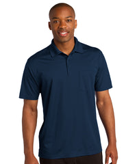Navy Blue Sport-Tek® Micropiqué Polo with Pocket Shown in UniFirst Uniform Rental Service Catalog