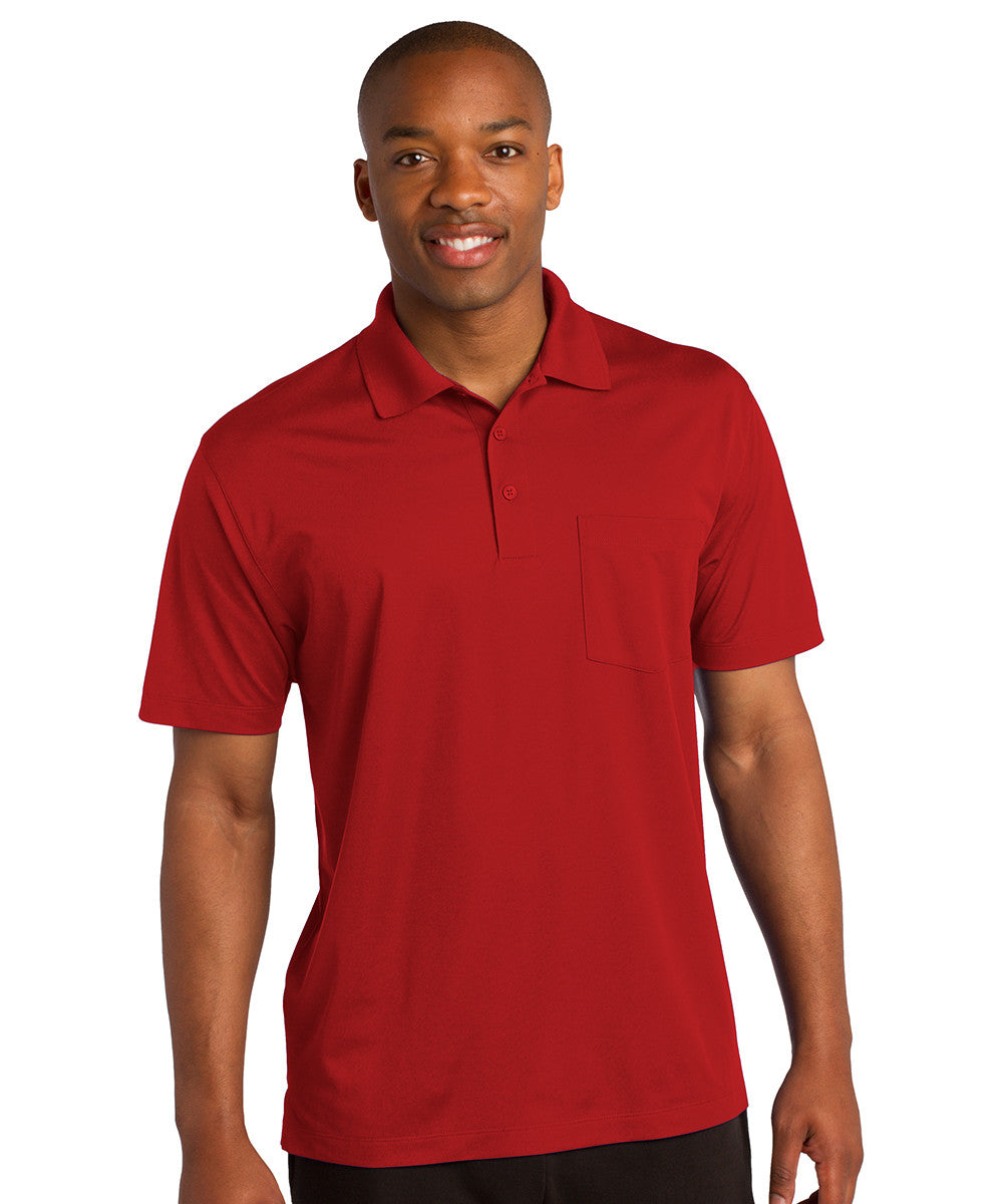 Red Sport-Tek® Micropiqué Polo with Pocket Shown in UniFirst Uniform Rental Service Catalog