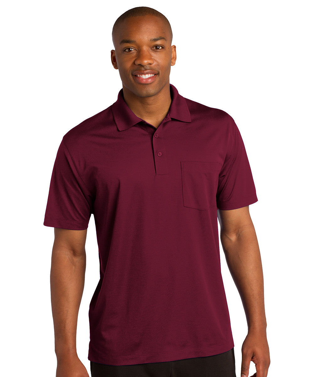 Maroon Sport-Tek® Micropiqué Polo with Pocket Shown in UniFirst Uniform Rental Service Catalog