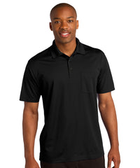 Black Sport-Tek® Micropiqué Polo with Pocket Shown in UniFirst Uniform Rental Service Catalog
