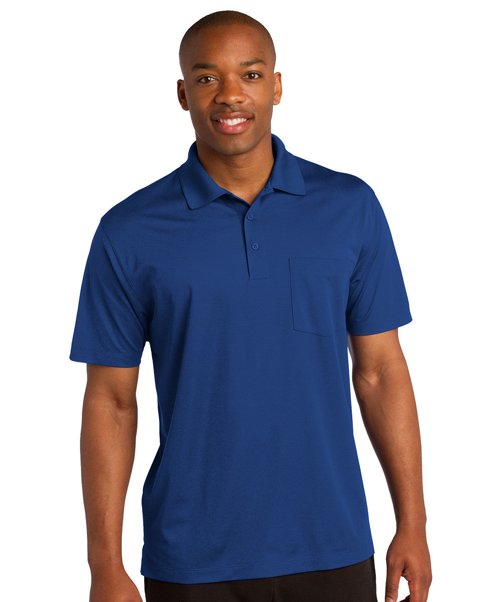 Royal Blue Sport-Tek® Micropiqué Polo with Pocket Shown in UniFirst Uniform Rental Service Catalog