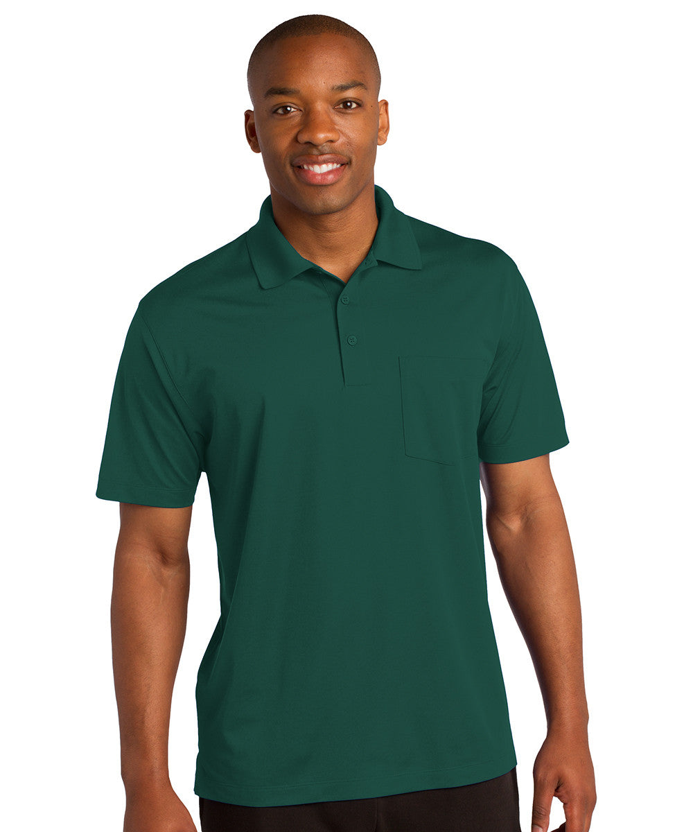 Hunter Green Sport-Tek® Micropiqué Polo with Pocket Shown in UniFirst Uniform Rental Service Catalog