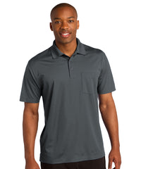Steel Grey Sport-Tek® Micropiqué Polo with Pocket Shown in UniFirst Uniform Rental Service Catalog