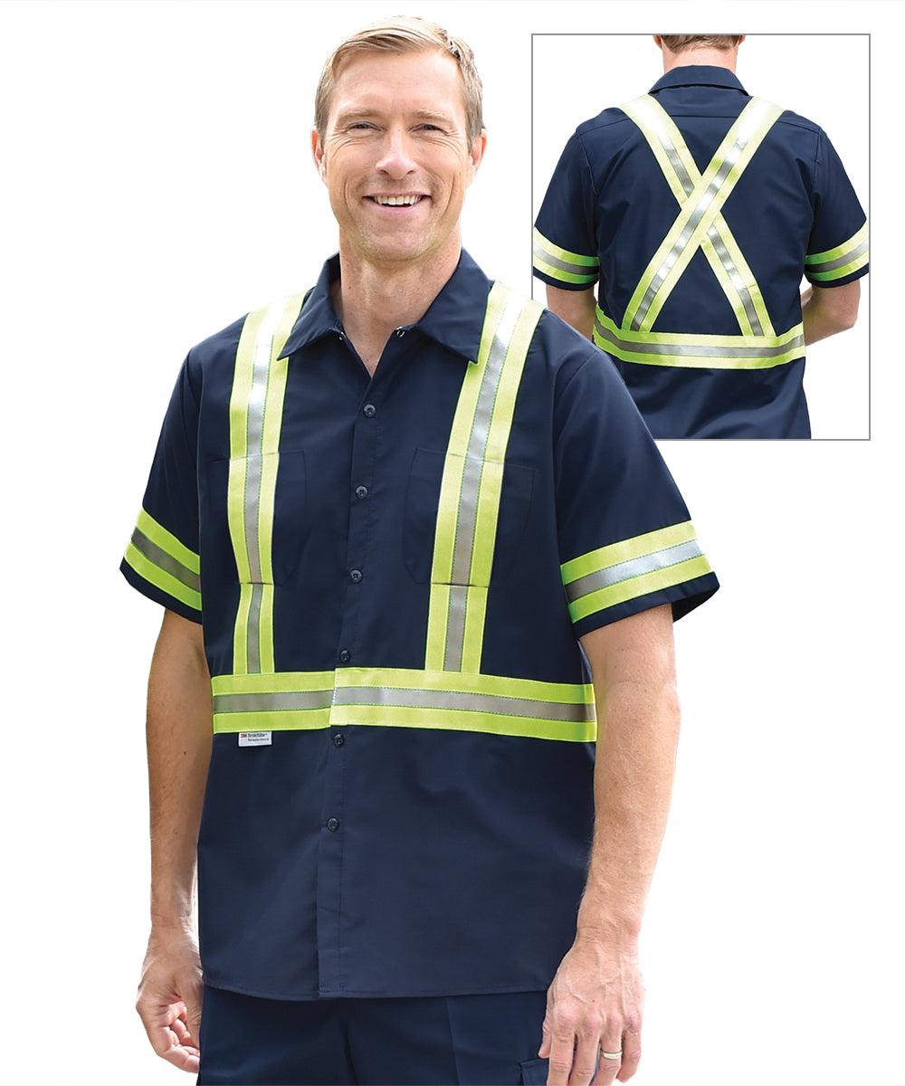 Short sleeve Enhanced Visibility Work Shirts (Canada Only) as shown in the UniFirst Uniform Rental Catalog