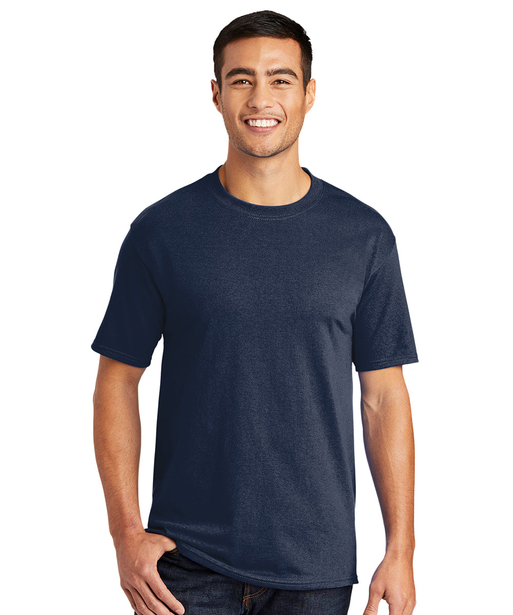 Men's Short Sleeve Classic T-Shirts (Navy) as shown in the UniFirst Uniform Rental Catalog.