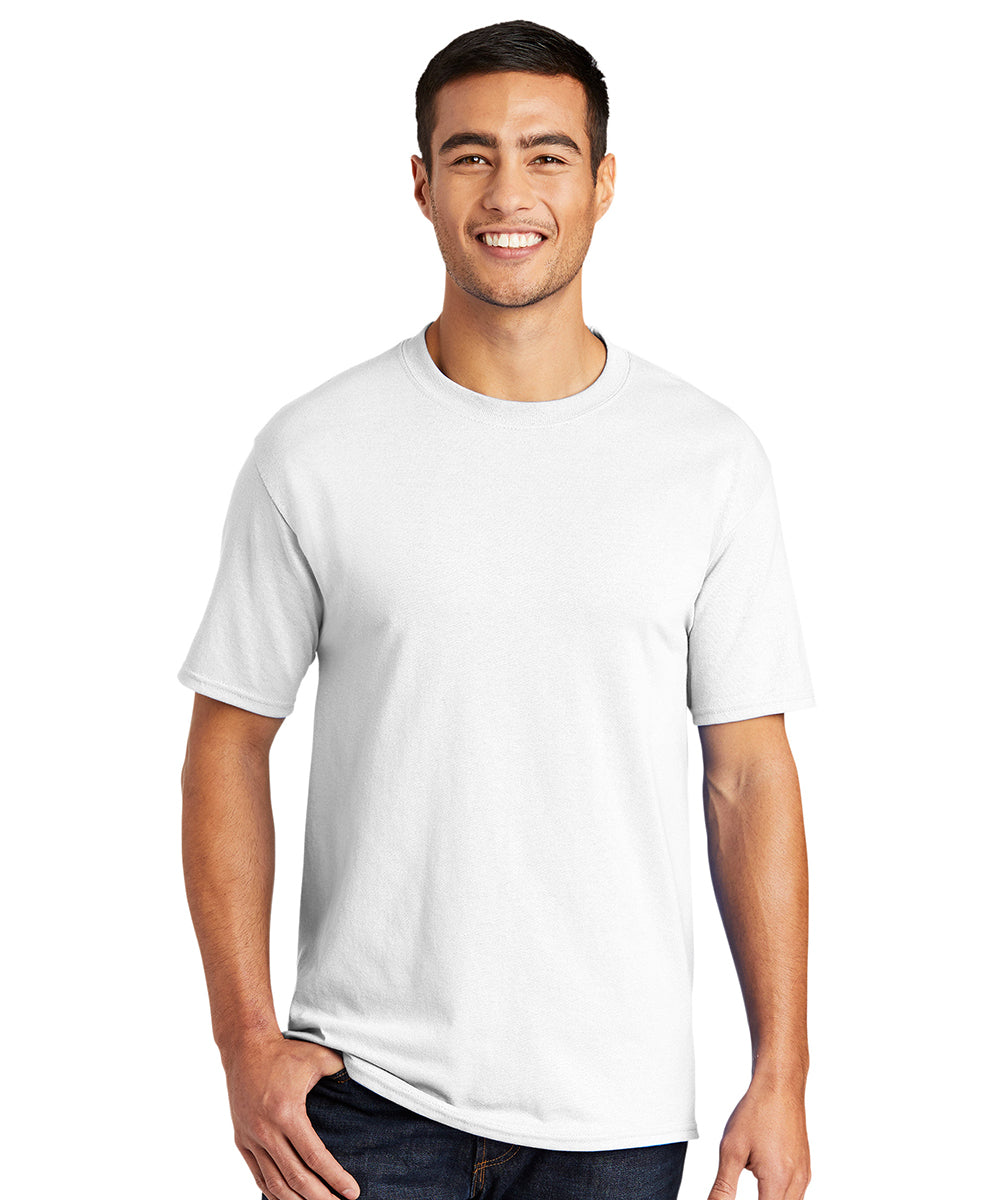 Men's Short Sleeve Classic T-Shirts (White) as shown in the UniFirst Uniform Rental Catalog.