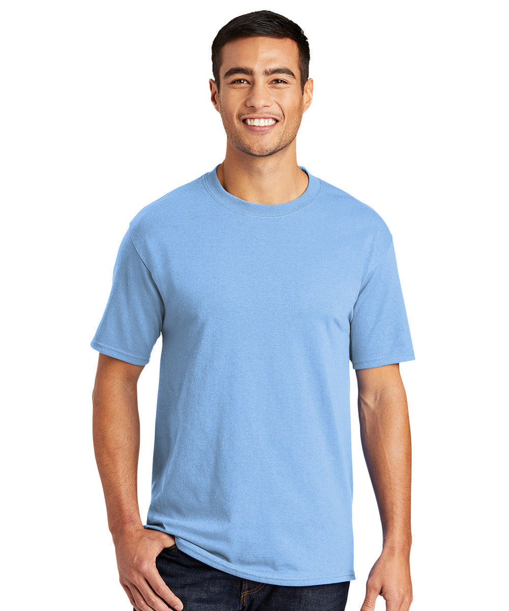 Men's Short Sleeve Classic T-Shirts (Light Blue) as shown in the UniFirst Uniform Rental Catalog.