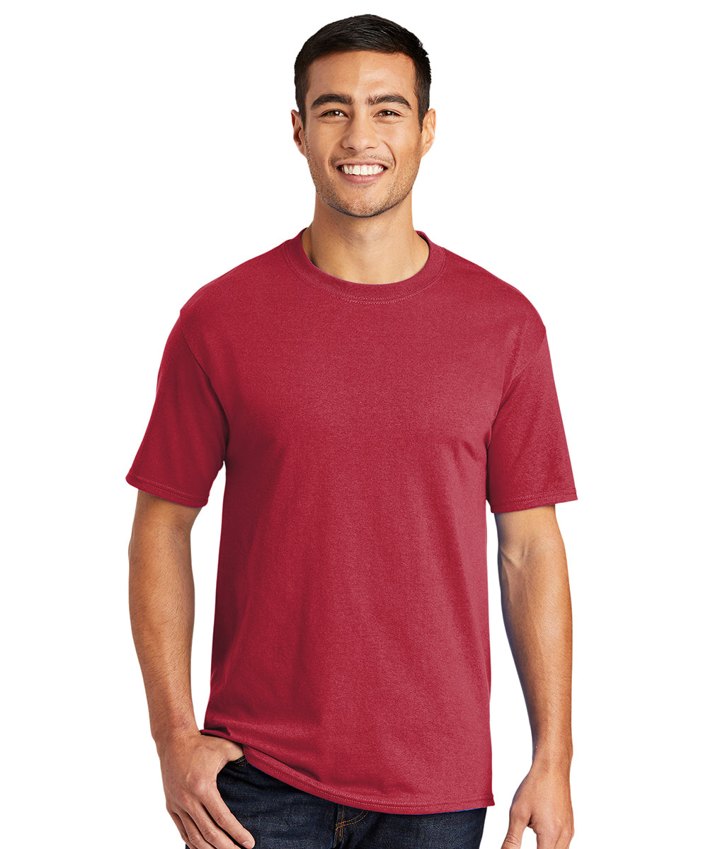 Men's Short Sleeve Classic T-Shirts (Red) as shown in the UniFirst Uniform Rental Catalog.