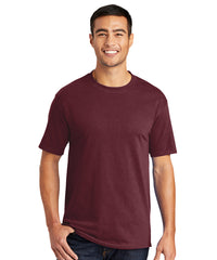 Men's Short Sleeve Classic T-Shirts (Maroon) as shown in the UniFirst Uniform Rental Catalog.