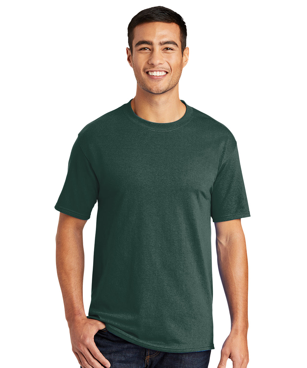 Men's Short Sleeve Classic T-Shirts (Dark Green) as shown in the UniFirst Uniform Rental Catalog.