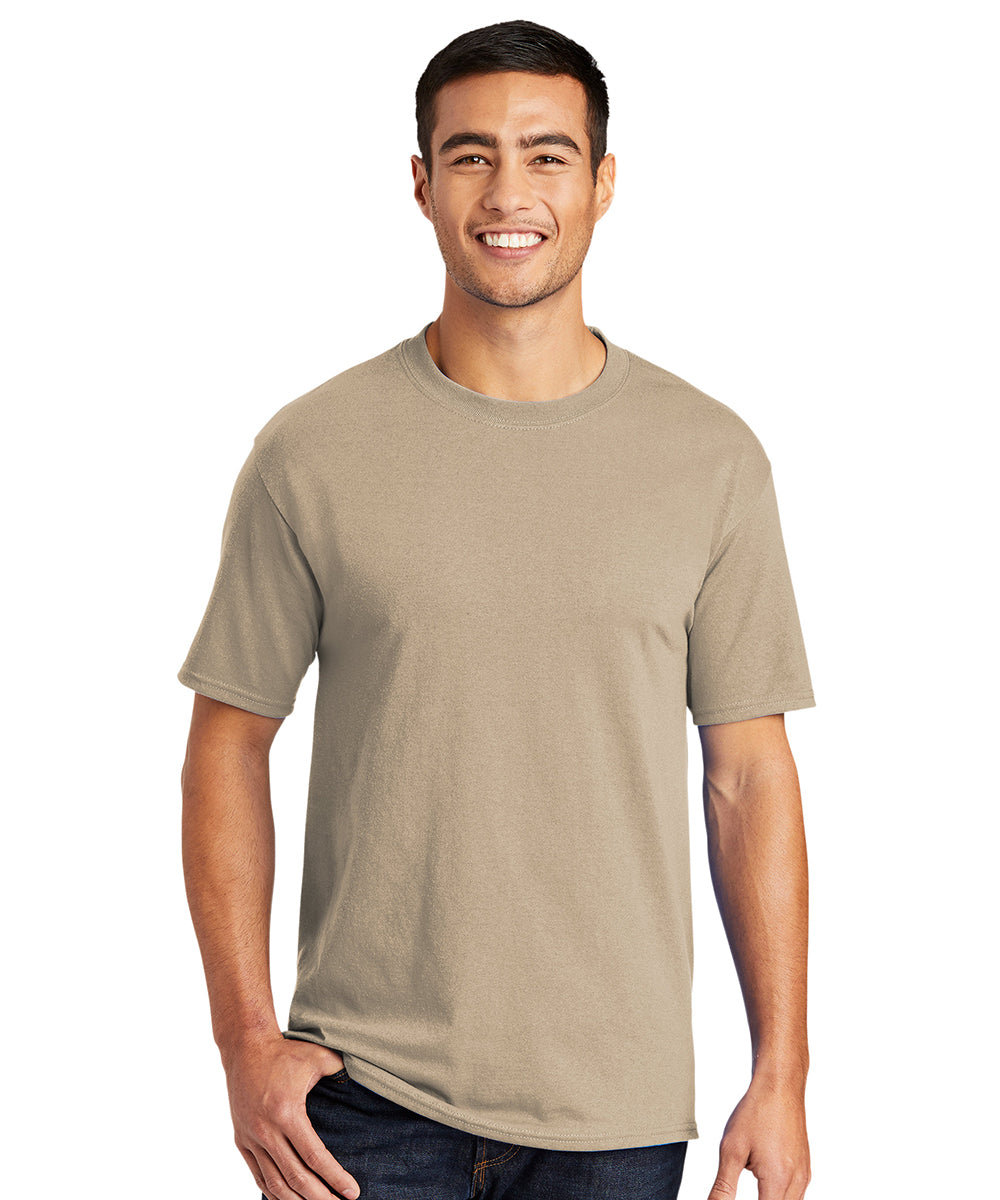 Men's Short Sleeve Classic T-Shirts (Sand) as shown in the UniFirst Uniform Rental Catalog.