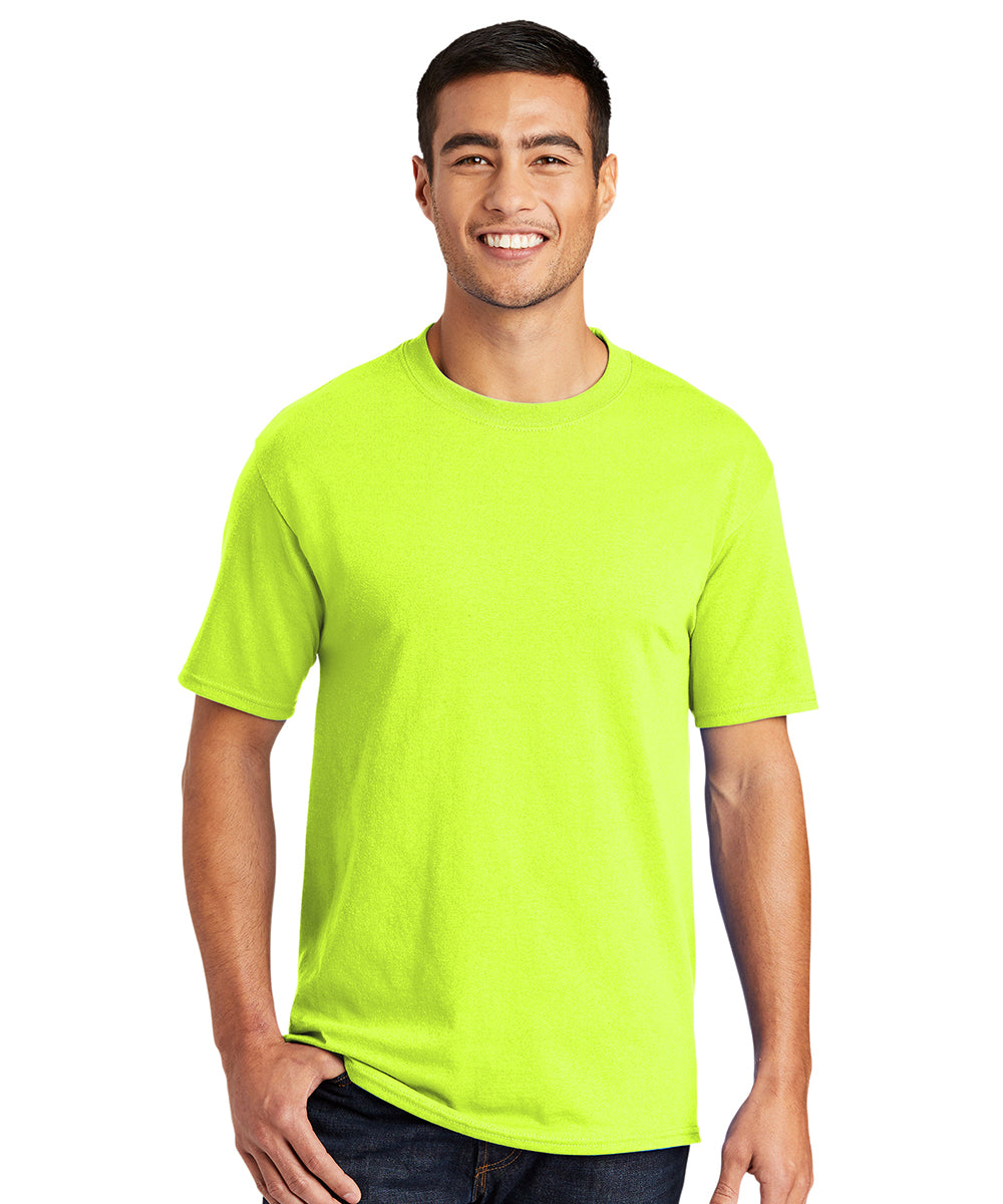 Men's Short Sleeve Classic T-Shirts (Safety Green) as shown in the UniFirst Uniform Rental Catalog.