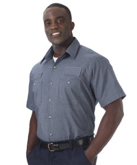 Light Blue UniWeave® Exclusive MicroCheck Shirts  Shown in UniFirst Uniform Rental Service Catalog