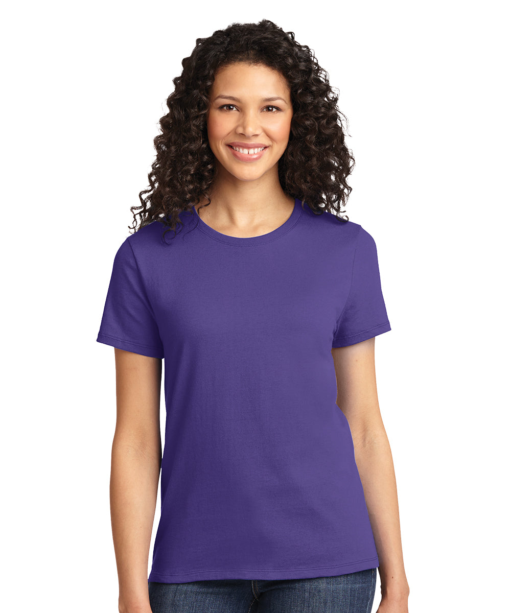 Short Sleeve 100% Cotton Classic Women's T-Shirts (Purple) as shown in the UniFirst Uniform Rental Catalog.