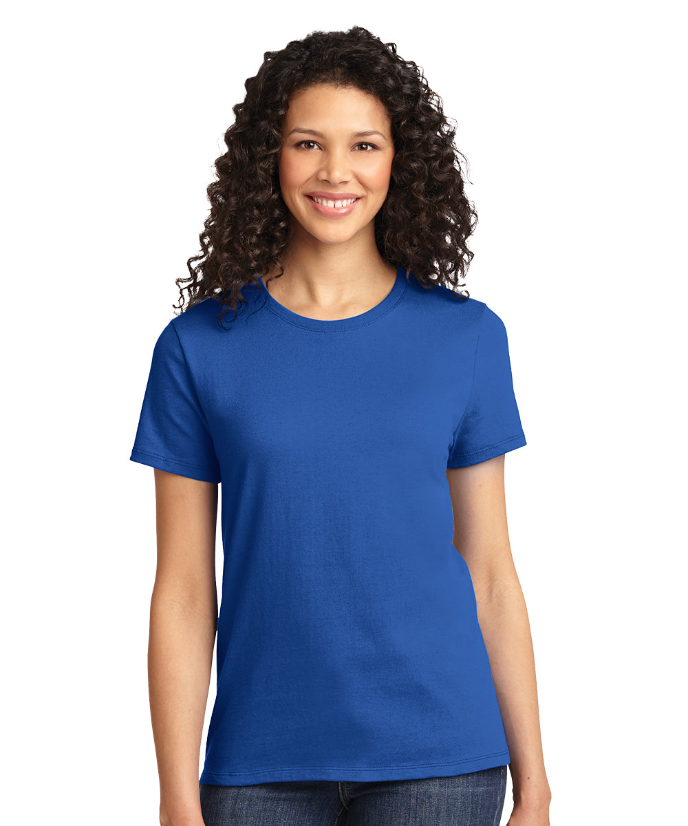 Short Sleeve 100% Cotton Classic Women's T-Shirts (Royal Blue) as shown in the UniFirst Uniform Rental Catalog.