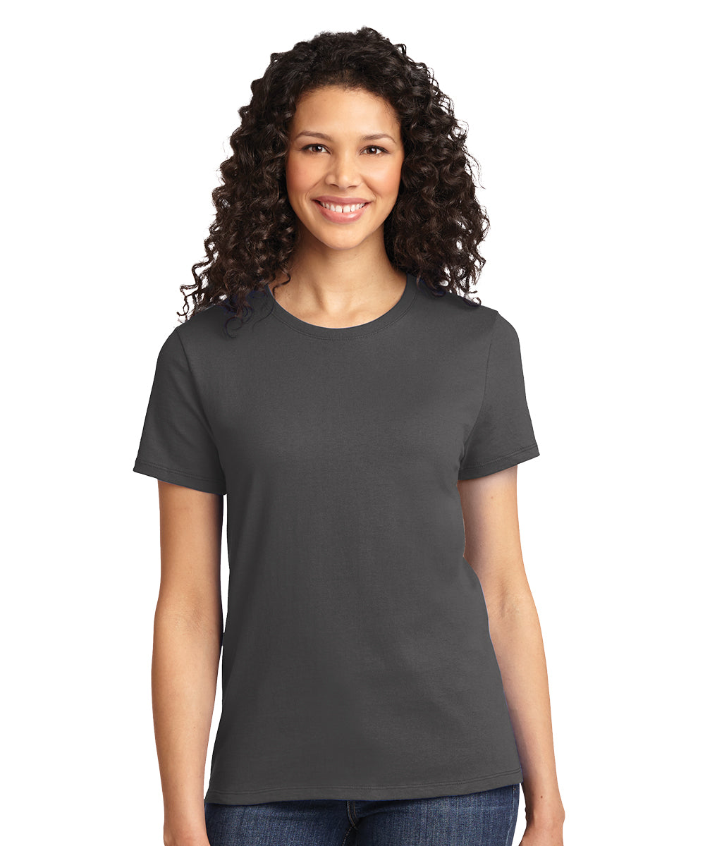 Short Sleeve 100% Cotton Classic Women's T-Shirts (Charcoal) as shown in the UniFirst Uniform Rental Catalog.