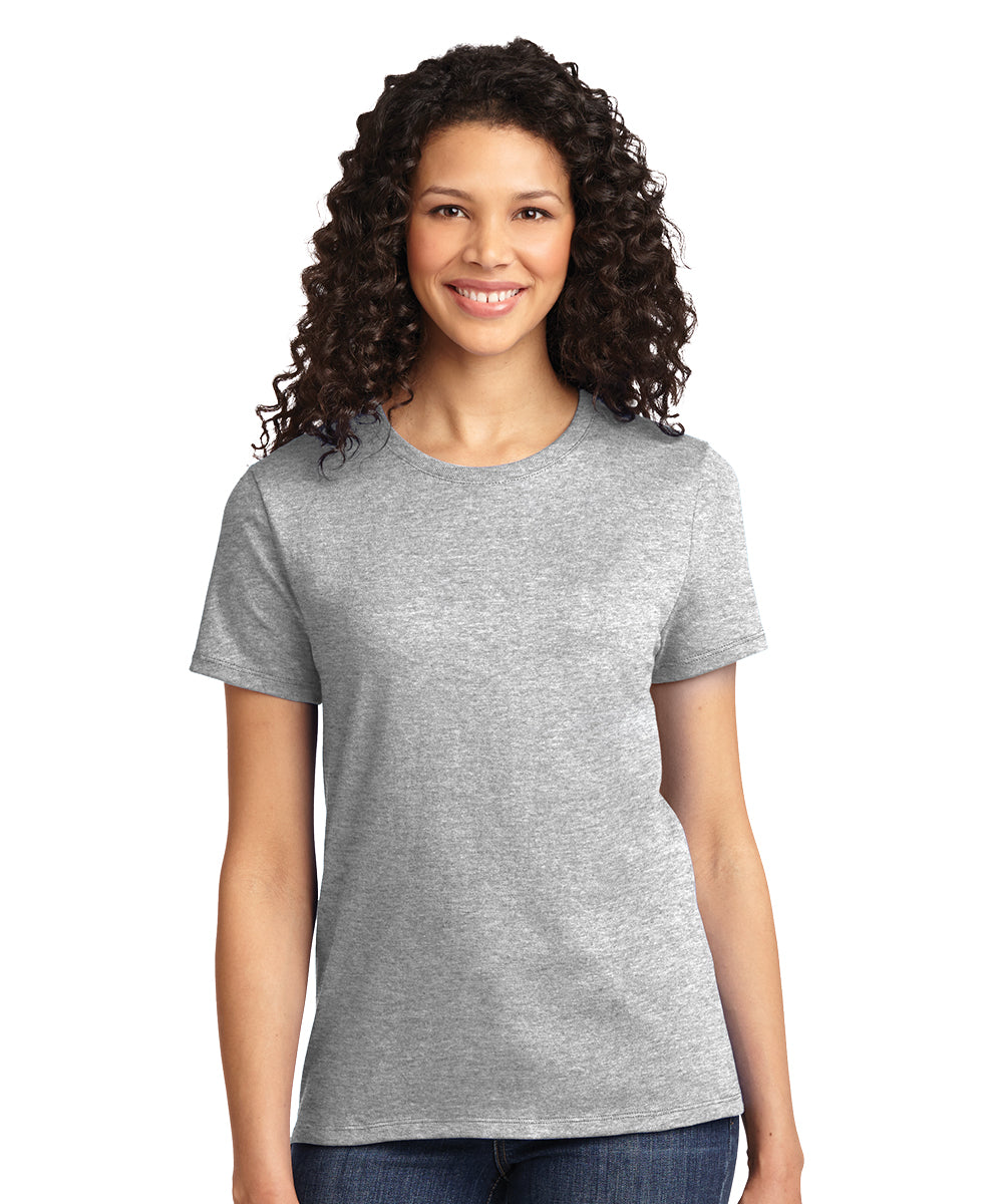 Short Sleeve 100% Cotton Classic Women's T-Shirts (Ash) as shown in the UniFirst Uniform Rental Catalog.
