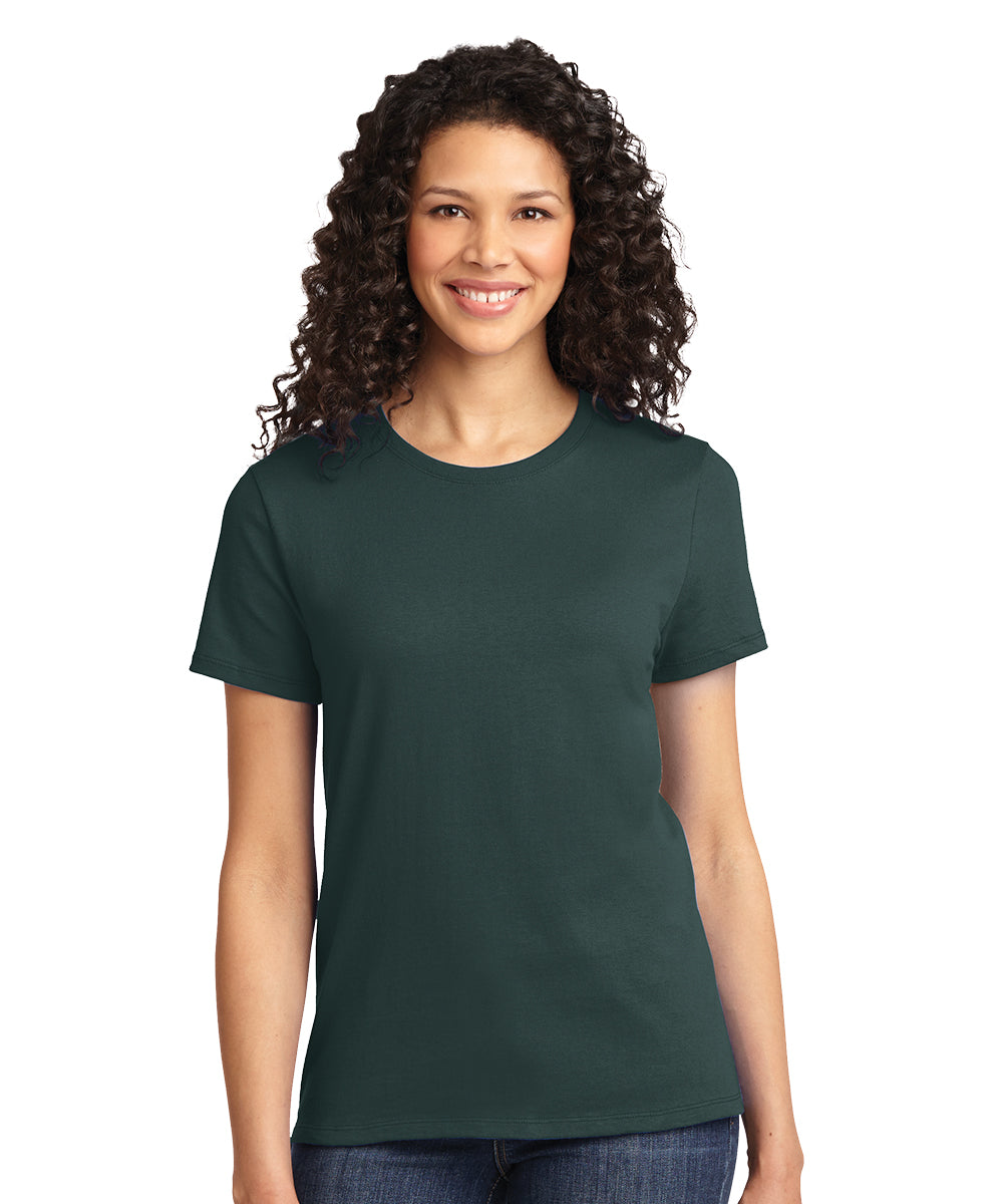 Short Sleeve 100% Cotton Classic Women's T-Shirts (Dark Green) as shown in the UniFirst Uniform Rental Catalog.
